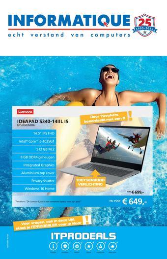 Informatique reclame folder (geldig t/m 12-07)
