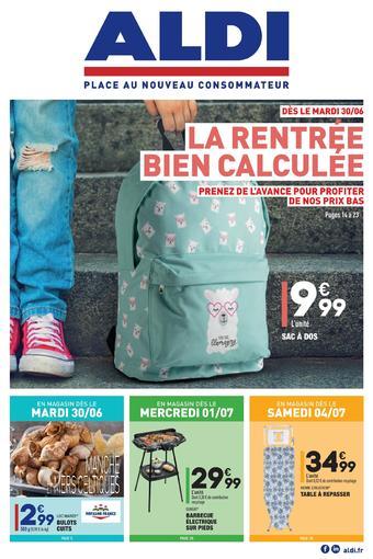 ALDI catalogue publicitaire (valable jusqu'au 06-07)