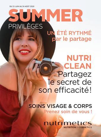 Nutrimetics catalogue publicitaire (valable jusqu'au 24-08)