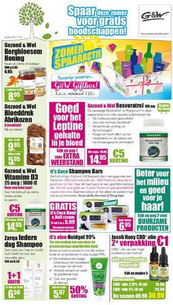 Gezond & Wel reclame folder (geldig t/m 02-08)
