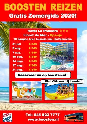 Boosten Reizen reclame folder (geldig t/m 31-08)