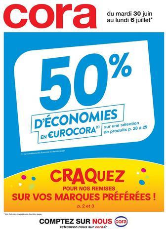 Cora catalogue publicitaire (valable jusqu'au 06-07)