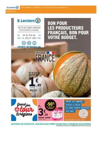 E.Leclerc catalogue publicitaire (valable jusqu'au 11-07)