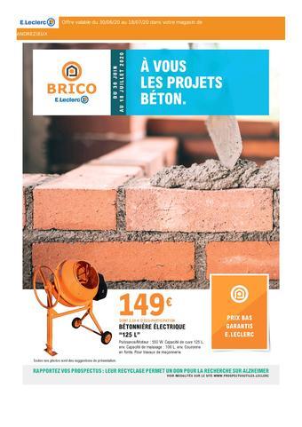 E.Leclerc Brico catalogue publicitaire (valable jusqu'au 18-07)