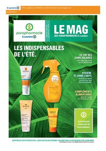 E.Leclerc Parapharmacie catalogue publicitaire (valable jusqu'au 25-07)