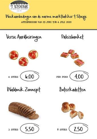 Bakkerij 't Stoepje reclame folder (geldig t/m 04-07)