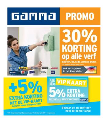 GAMMA reclame folder (geldig t/m 07-07)