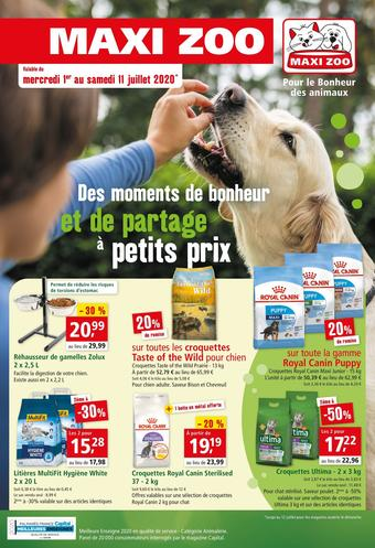 Maxi Zoo catalogue publicitaire (valable jusqu'au 11-07)