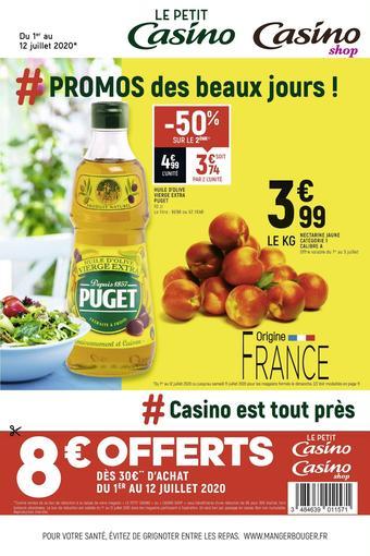 Petit Casino catalogue publicitaire (valable jusqu'au 12-07)