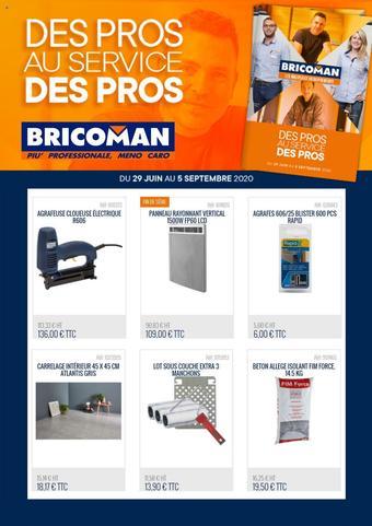 Bricoman catalogue publicitaire (valable jusqu'au 05-09)