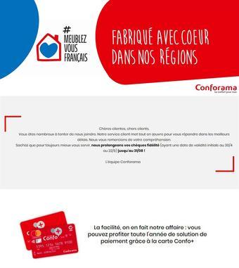 Conforama catalogue publicitaire (valable jusqu'au 31-08)