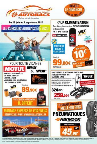 Autobacs catalogue publicitaire (valable jusqu'au 02-09)