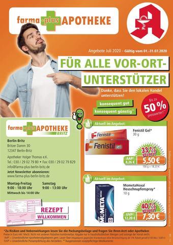 farma-plus Apotheken Prospekt (bis einschl. 31-07)