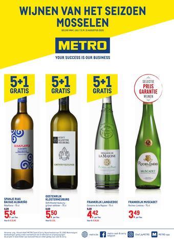 METRO reclame folder (geldig t/m 31-08)