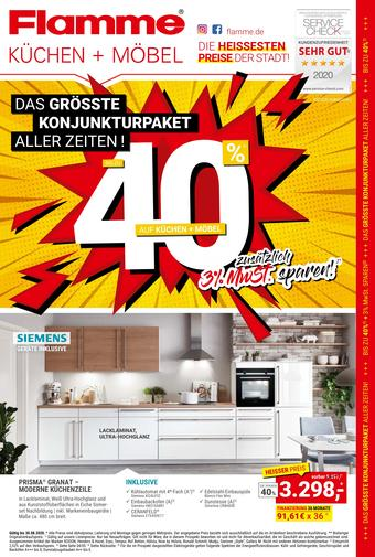 Flamme Möbel Prospekt (bis einschl. 30-08)
