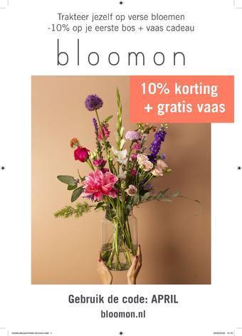 Bloomon reclame folder (geldig t/m 31-08)