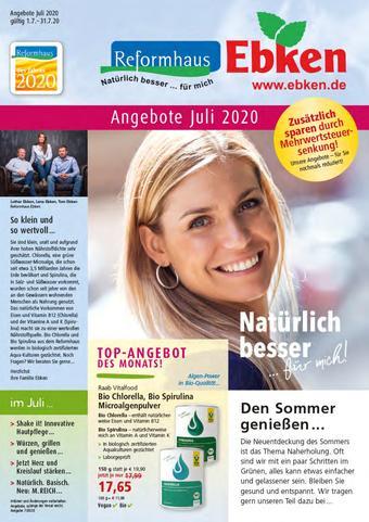 Reformhaus Ebken Prospekt (bis einschl. 31-07)