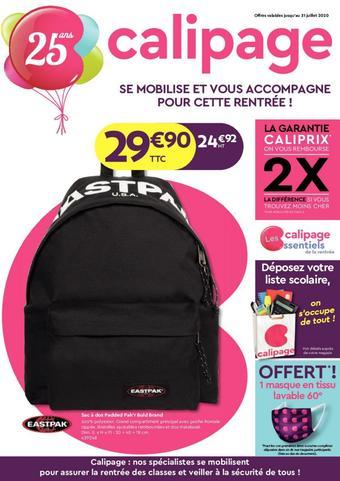 Calipage catalogue publicitaire (valable jusqu'au 31-07)