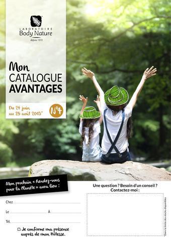 Body Nature catalogue publicitaire (valable jusqu'au 25-08)