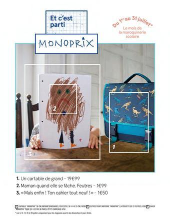 Monoprix catalogue publicitaire (valable jusqu'au 31-07)