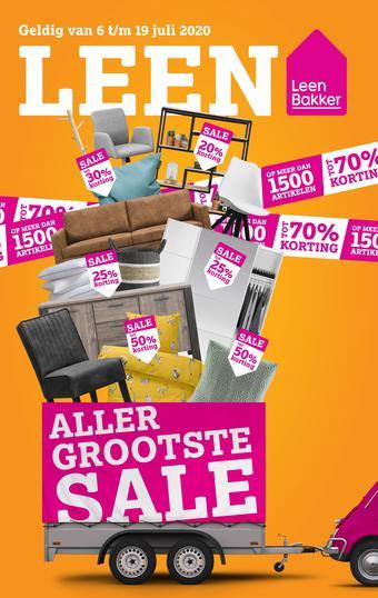 Leen Bakker reclame folder (geldig t/m 19-07)