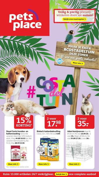 Pets Place reclame folder (geldig t/m 19-07)