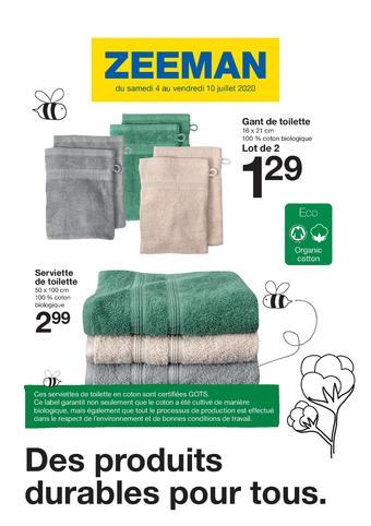 Zeeman catalogue publicitaire (valable jusqu'au 10-07)
