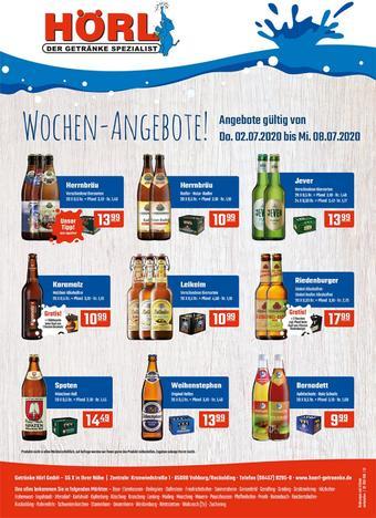 Hörl Getränke Prospekt (bis einschl. 08-07)