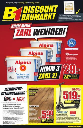 B1 Discount Baumarkt Prospekt (bis einschl. 10-07)