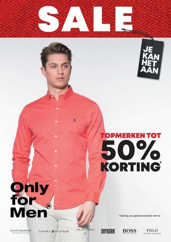 Only for Men reclame folder (geldig t/m 19-07)