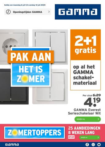 GAMMA reclame folder (geldig t/m 12-07)
