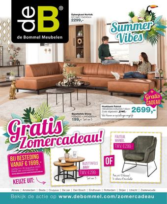De Bommel Meubelen reclame folder (geldig t/m 30-08)