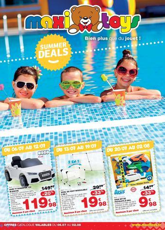 Maxi Toys catalogue publicitaire (valable jusqu'au 09-08)