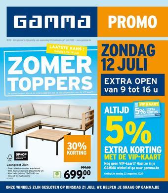 GAMMA reclame folder (geldig t/m 21-07)
