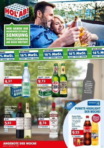 Hol'ab Getränkemarkt Prospekt (bis einschl. 11-07)