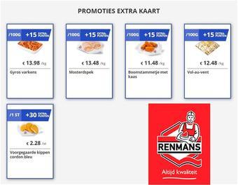 Renmans reclame folder (geldig t/m 09-07)