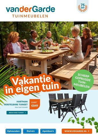 Van der Garde tuinmeubelen reclame folder (geldig t/m 11-07)