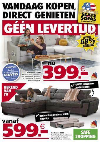 Seats and Sofas reclame folder (geldig t/m 19-07)