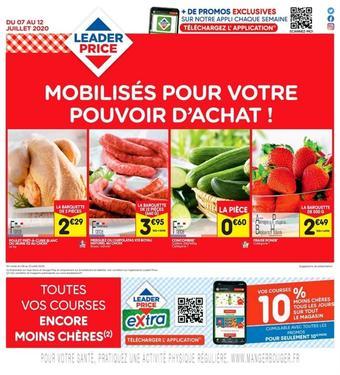 Leader Price catalogue publicitaire (valable jusqu'au 12-07)