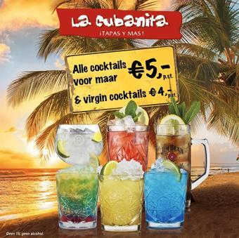 La Cubanita reclame folder (geldig t/m 19-07)