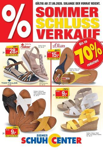 Siemes Schuhcenter Prospekt (bis einschl. 31-07)