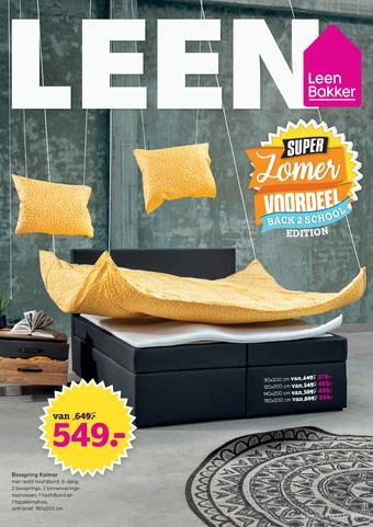Leen Bakker reclame folder (geldig t/m 31-07)