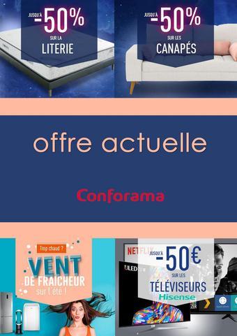 Conforama catalogue publicitaire (valable jusqu'au 16-07)