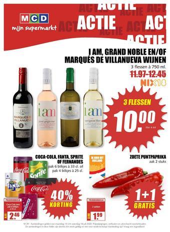 MCD Supermarkt reclame folder (geldig t/m 18-07)