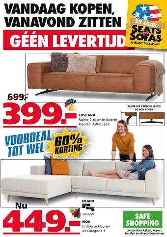 Seats and Sofas reclame folder (geldig t/m 19-07)