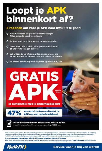 Kwik-fit reclame folder (geldig t/m 26-07)
