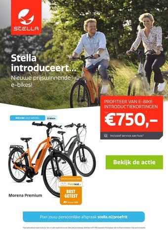 Stella fietsen reclame folder (geldig t/m 19-07)