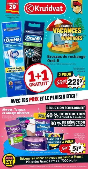 Kruidvat catalogue publicitaire (valable jusqu'au 19-07)