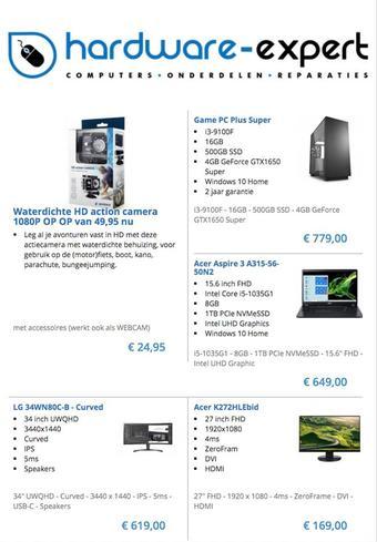 Hardware Outlet reclame folder (geldig t/m 31-07)