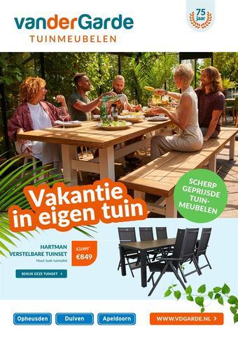 Van der Garde tuinmeubelen reclame folder (geldig t/m 26-07)